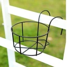 Новинка, подвесные железные стеллажи для растений, балконные Круглые цветочные горшки, перила, забор для улицы, Прямая поставка, товары для сада