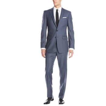 Fashion two-piece mens suits new fashion the groom suits two button pure color men suits for wedding (jacket+pants+tie)