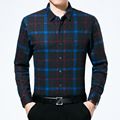 Длинные Рукава Рубашки Для Мужчин Мода Дизайн мужские Рубашки Бизнес И Отдых Хлопчатобумажных Печатных Лацкане Рубашки Вскользь