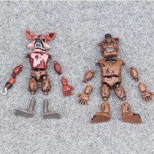 Image 3 - ร้อนขาย Five Night ที่ Freddy อะนิเมะ Fnaf หมีประกอบ Action Figure Pvc รุ่น Freddy ของเล่นเด็ก