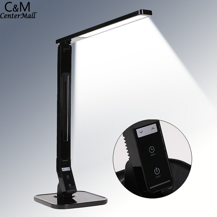 ФОТО LED Desk Lamp Smart Touch-Control Night Reading Book Light Eye Protection Table Lamps with USB Charging