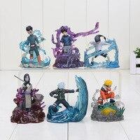 6pcs/set 7cm Naruto Action Figure Orochimaru Rock Lee Neji Sasuke Gaara Shikamaru Kakashi Uzumaki Naruto Model Toy