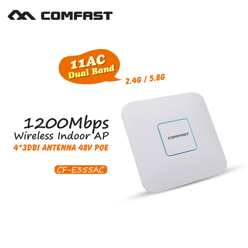 Comfast wireless router 1200Mbps Wireless Access Point Dual Band 2.4G&5G max 500 square meters coverage 802.11AC support openWRT