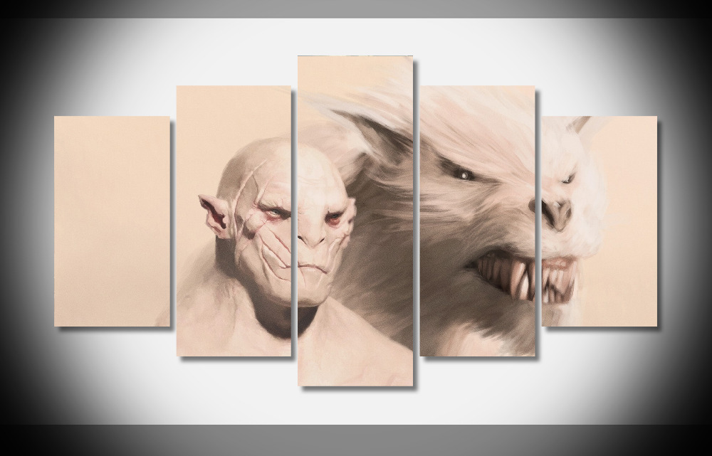 8374 Azog Orcs The Hobbit Fantasy Movie poster Framed Gallery wrap art print home wall decor wall picture Already to hung