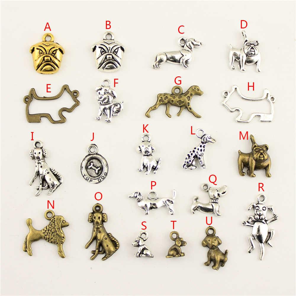 20Pcs ขายส่งจำนวนมากอุปกรณ์สำหรับวัสดุ Bulldog สร้างสรรค์วันเกิดของขวัญ Charms สำหรับเครื่องประดับทำ HK034