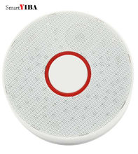 лучшая цена SmartYIBA High Sensitive Long Life Battery-Operated independent Smoke Sensor Fire/Smoke Protection Alarm Detector