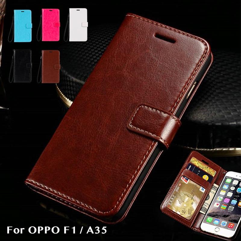 Cut Price Pu Leather Phone Bag Case For Oppo F1 A35 Flip Book Case