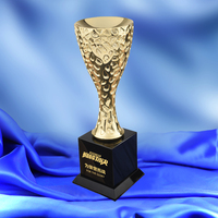 MTTC0003 New Design Customized Metal Cup Shaped Trophy Champions League Prize World Cup Trophy Sports Souvenirs Soccer Award Cup