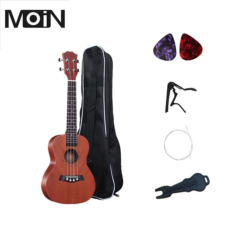 Sopran Ukulele 21 zoll Ukulele 4 Saiten Linde Griffbrett Akustische Gitarre Musik Instrument Tasche Tuner String Strap Pick Set
