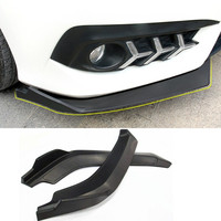Car Front Bumper Lip Splitter Fins Body Spoiler Canards Valence Chin for Civic two pcs(R+L)