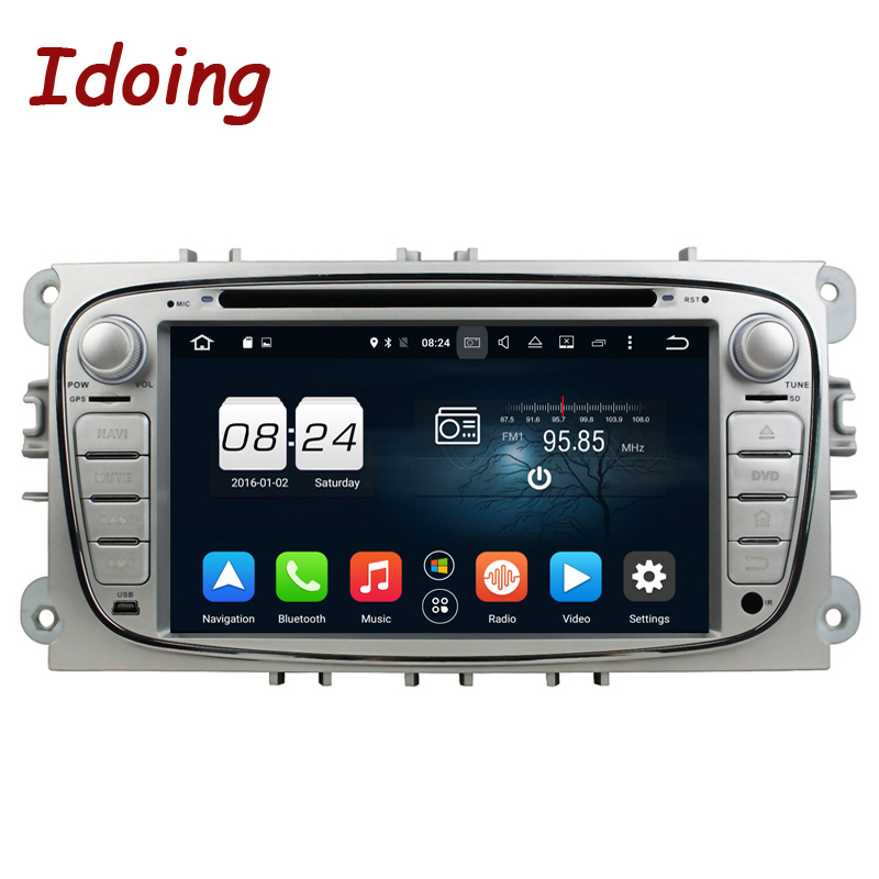 Idoing 2 Din Android 8.0 Steering Wheel Car DVD Player For Ford Focus2 GPS Navigation 4G+32G 8Core WIFI MP3 TV Touch Screen Navi