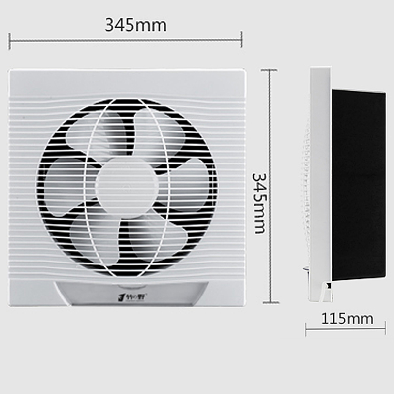 Strong ventilator 10 inches kitchen exhaust fan Exhaust smoke Household bathroom Silent Wall exhaust fan 12 inches ventilator pipeline exhaust fan strong kitchen oil exhaust wall type square ventilator 300mm