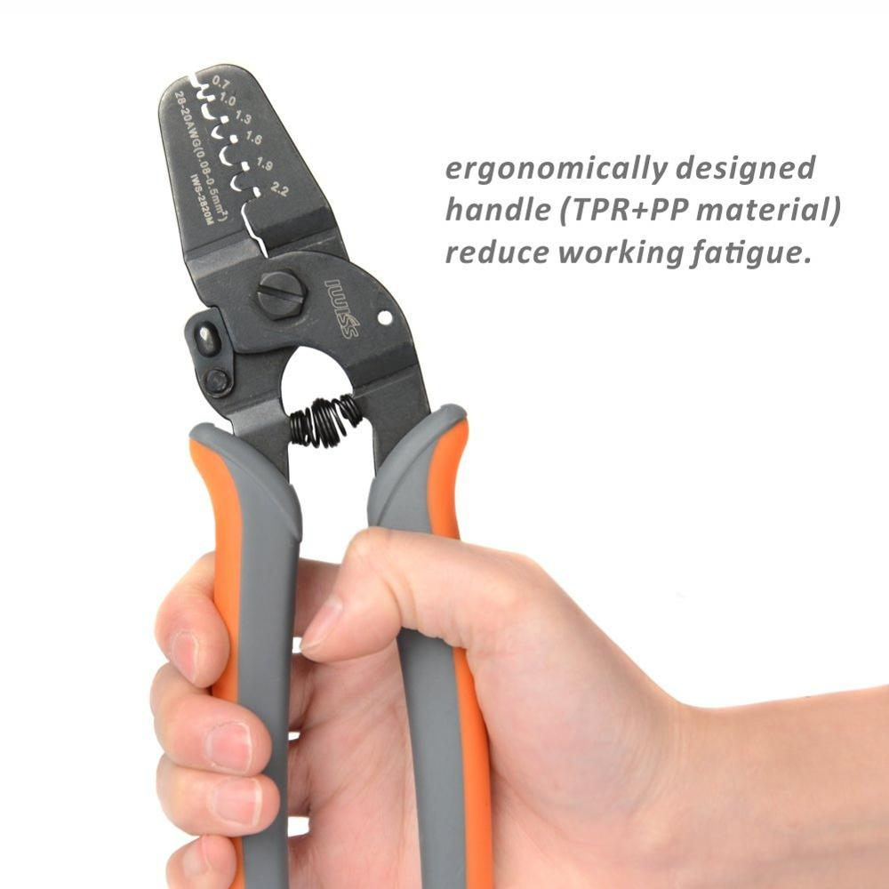 Image 4 - IWS 2820 Terminal Crimping Tools for JAM Molex Tyco JST Terminal and Connector 0.08 0.5mm²(28 20AWG)Mini Crimping pliers-in Pliers from Tools