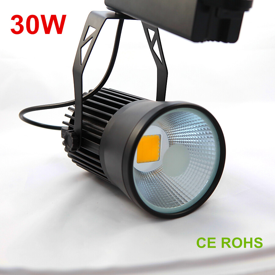 30w Led Track Lighting Fixtures: LED Track Light 30W COB Rail Lights Track Lighting 130