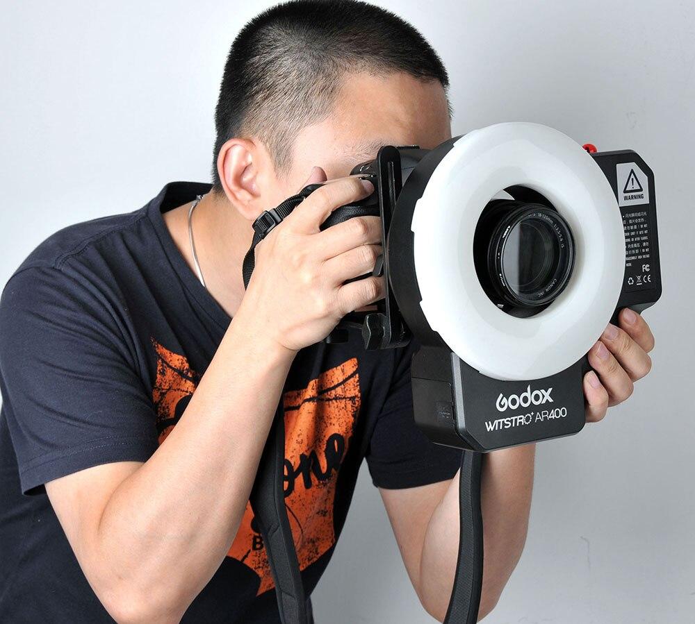 Godox AR400 400 Вт литий ионный Батарея ЖК дисплей Панель мощное светодиодное кольцо вспышка для макросъемки Speedlite видео свет комплект