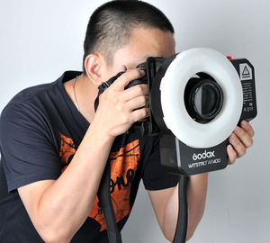 Godox AR400 400W batería de Li-Ion LCD Panel poderoso Macro anillo LED Flash Speedlite Luz de vídeo Kit de