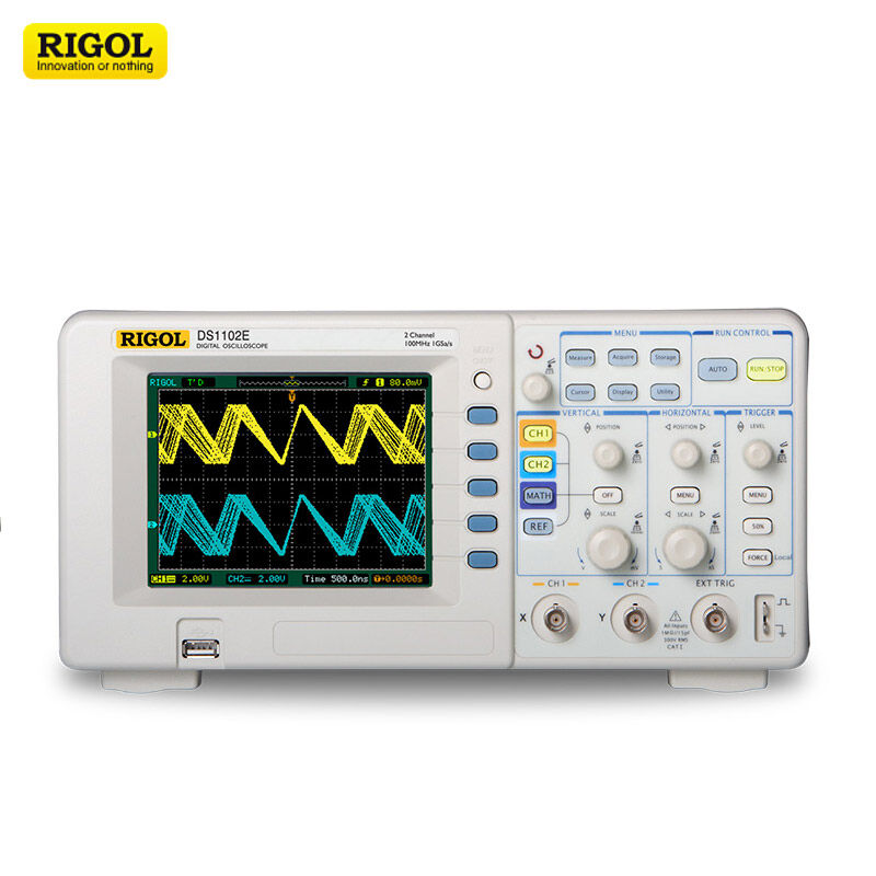 Rigol DS1102E Digital Oscilloscope 100MHZ 2Channels Scopemeter 1GSa s 1M Memory Depth with USB