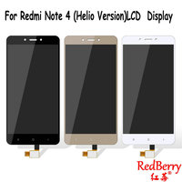 Redberry 100 Original LCD For Xiaomi Redmi Note 4 Screen LCD Helio Version Replacement Display Redmi