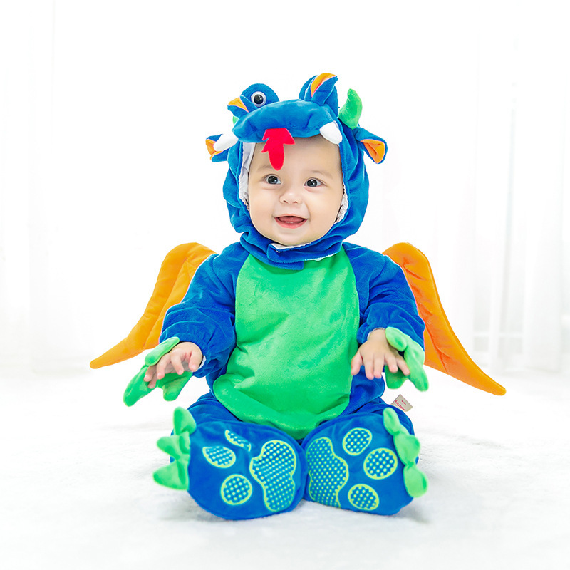 Jurassic World Baby Cosplay Costume Halloween Dinosaur Cosplay Party Halloween T REX Costume for Kids Children Girl Boys