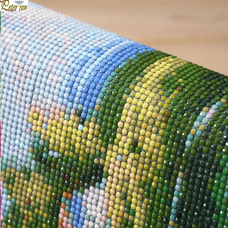 """Diy Алмазная картина вышивка крестиком Искусство и ремесла портрет peopl Полный Круглый \ квадратная мозаика Алмазная вышивка """"Ангел голубь роз"""""""