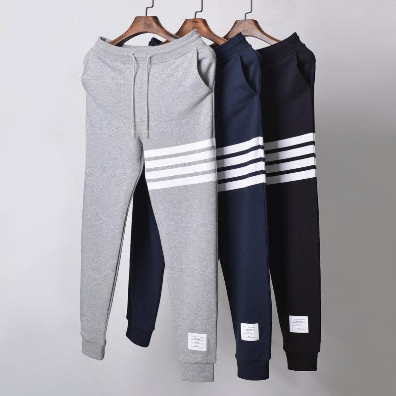 2021 модные брендовые спортивные брюки TB, мужские весенние повседневные спортивные брюки из чистого хлопка, спортивные брюки, мужские спорти...