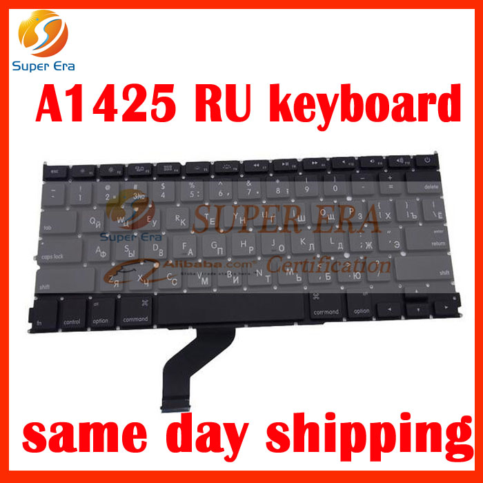 A1425 RU Russian Russia keyboard KB clavier without backlight late 2012 early 2013year with screw driver