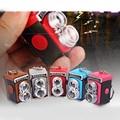 3pcs/set Dollhouse Miniature Simulation Retro LOMO Camera Styling LED Light Camera Keychain Bag Accessory DIY Plastic Crafts