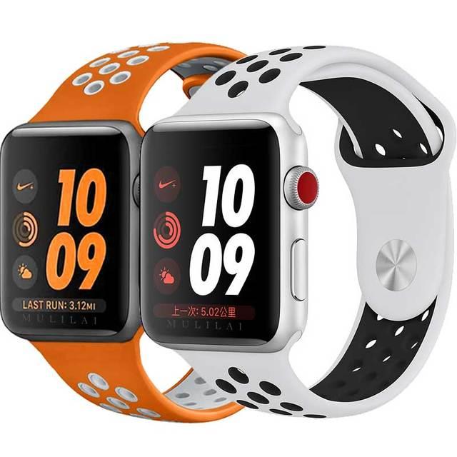 2dfef9cdaf24 40 мм 44 мм ремешок для NIKE + Apple Watch группа iWatch серии 4 3 2 ...