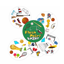 Flash Pair sport card game for ages 5 spot to sports fan board game children education