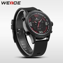 WEIDE luxury genuine sport LCD watch Silicone quartz watches water resistant analog camping digital clock business men