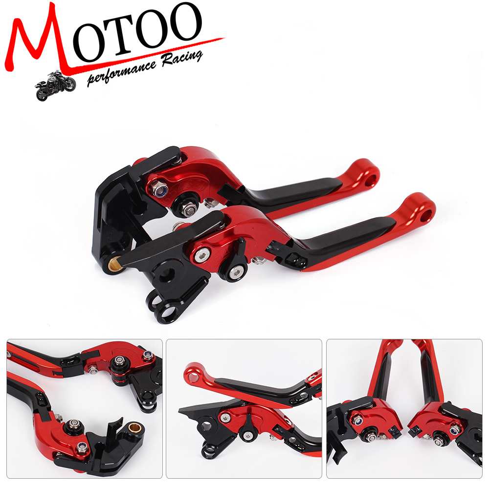 Motoo -DB-80/V-4A  Adjustable CNC 3D Extendable Folding Brake Clutch Levers For APRILIA TUONO V4R/Factory2011-2016 adjustable billet extendable folding brake clutch levers for bimota db 5 s r 1100 2006 11 07 09 10 db 7 08 11 db 8 1200 08 11