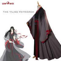 UWOWO Wei Wuxian Die Yiling Patriarch Cosplay Großmeister von Dämonische Anbau Kostüm Wei Wuxian Mo Dao Zu Shi Kostüm Männer