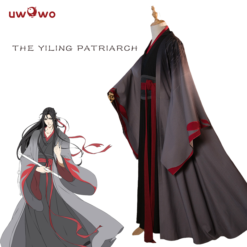 UWOWO Wei Wuxian The Yiling Patriarch Cosplay Grandmaster Of Demonic Cultivation Costume Wei Wuxian Mo Dao Zu Shi Costume Men