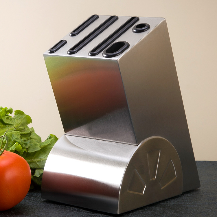 High-grade Stainless Steel Wheel Seat Knife Holder Kitchen Supplies