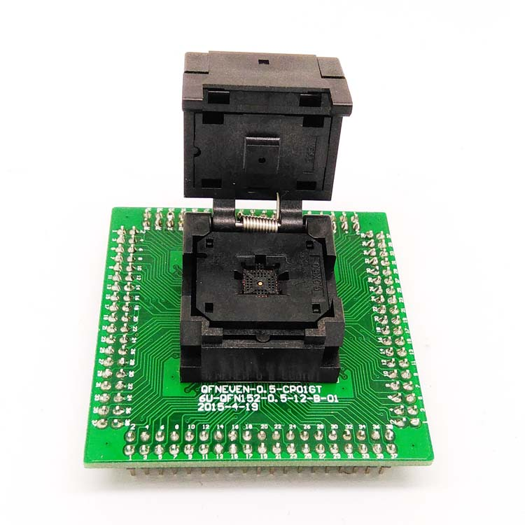 QFN32 MLF32 IC Test Adapter IC550-0324-007-G Programming Socket Pitch 0.5mm Clamshell Chip Size 5*5 Flash Adapter Burn in Socket qfn32 mlf32 ic pitch 0 5 ic550 0324 007 g test programming socket clamshell chip size 5 5 flash adapter smt smd test socket