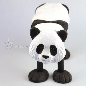 Image 5 - 手彫り木製の装飾品のための動物キリンライオン牛ハスキーゼブラパンダタイガー型スツール子供 1 6 年