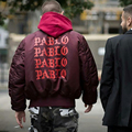 2015 Autumn Winter Men Kanye West Yeezy Red  Ma1 Bomber Yeezus Jacket Cool  Windbreaker Thick Coats