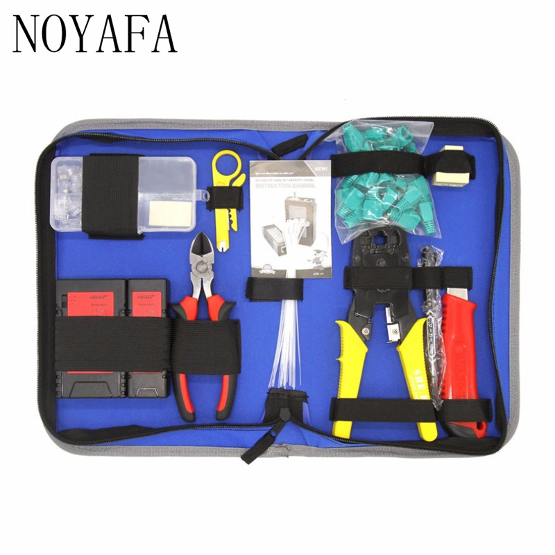 NF-1301 Network Maintenance Repair Tool Kit Lan Cable Tester NF-468 Wire Stripper Pliers Utility Knife Crimping Tool Set