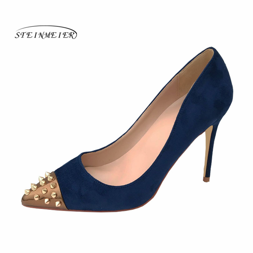2019 women pumps high heels Wedding Party Shoes High Heel Sexy Spring Women Shoes rivet Pointed