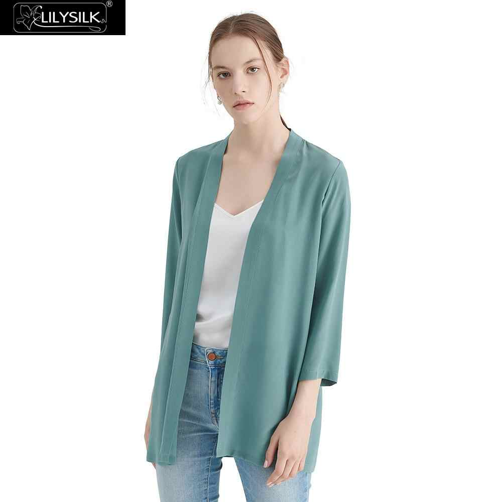 6aea0424dc9f5 LILYSILK Kimono Silk Feminine Women Easy Matching Elegant Silk 18MM Ladies  Free Shipping