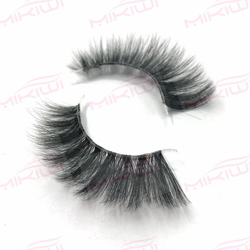 Mikiwi Delara invisible clear band Mink Eyelashes 3D Mink Lashes HandMade Full Strip Lashes Cruelty Free Mink Lashes цена
