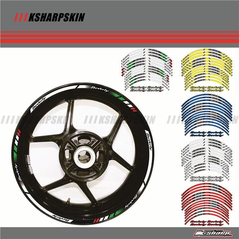 12 X Thick Edge Outer Rim Sticker Stripe Wheel Decals FIT all Piaggio beverly 125 250 350 500 16''14''