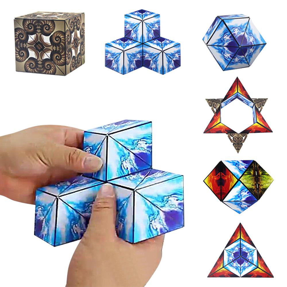 Euclid Geometric Magic Cube 70 Different Shapes Changeable Magic Cubes Educational Toys For Children Adult