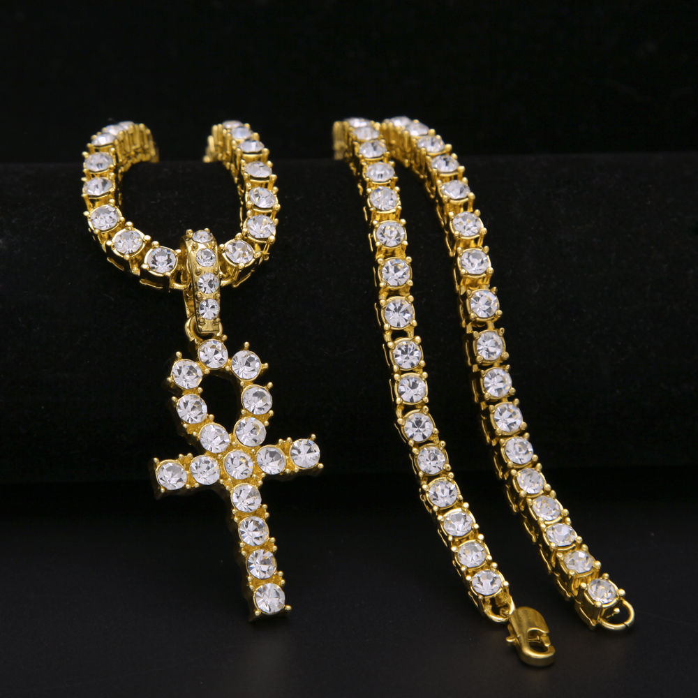 gold silver color bling bling jewelry hip hop Egyptian ...