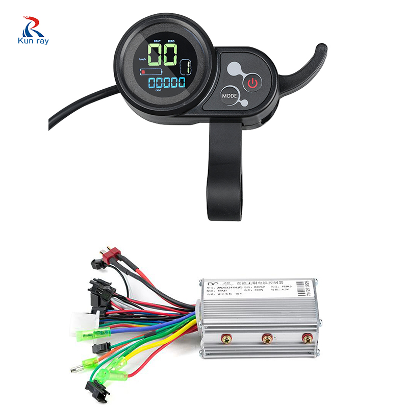 250W 350W 24V 36V 48V USB Electric Bike LCD Display DC Mode E Scooter Brushless Motor Controller with E bike conversion kit