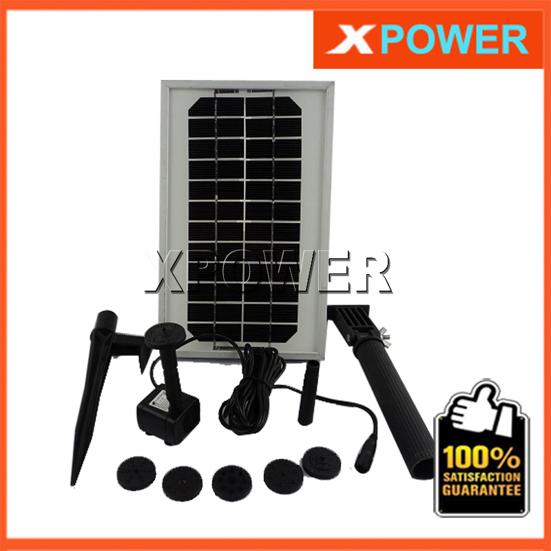 ФОТО JT-180-3W 12V DC Brushless Solar Water Pond Fountain Pump Kit 300L/H 150CM Submersible Pump With Solar Panel