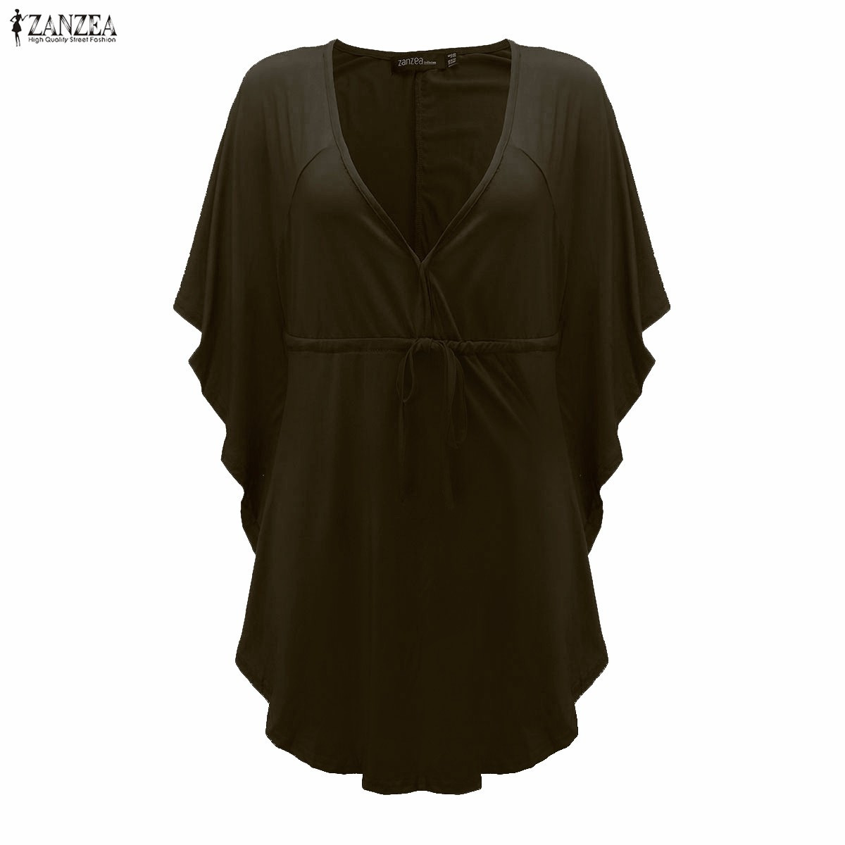 Plus Casual Batwing V-Neck 13