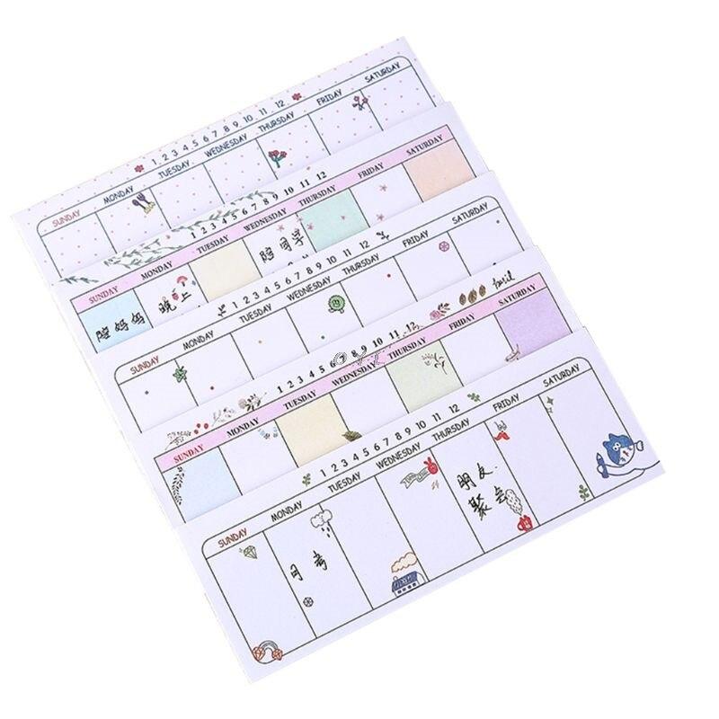 1PC Weekly Planner Agenda Material Escolar Caderno 2019 School Papeleria Stationery