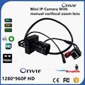 "960 P מצלמה מיקרופון מיני אודיו IP ONVIF P2P Varifocal עדשת זום ידנית 2.8 12 מ""מ Plug And מצלמה Play טלוויזיה במעגל סגור אבטחה-במצלמות מעקב מתוך אבטחה והגנה באתר"