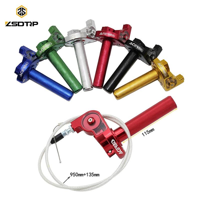 ZSDTRP 7/8 CNC Алюминиевый Поворотный ручка дроссельной заслонки + Замена кабеля для велосипеда грязи Quad ATV Pit 50cc 125cc 150cc 250cc